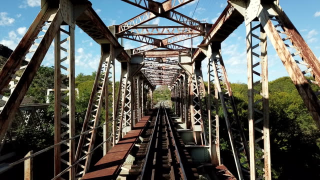 norvalspont railway bridge eastern cape south africa - girder stock videos & royalty-free footage