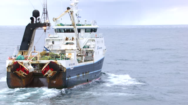 norway : batsfjord harbor trawler - trawler stock videos & royalty-free footage