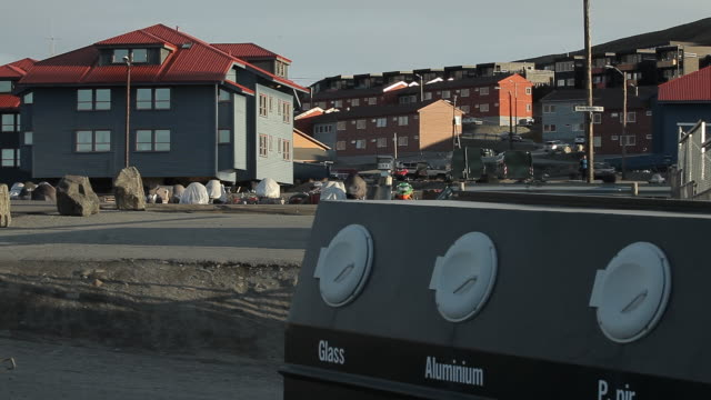 Norway. Longyearbyen - The streets of a small town