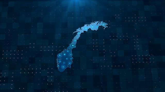 4k norge karta länkar med fullständig bakgrundsinformation - kartografi bildbanksvideor och videomaterial från bakom kulisserna
