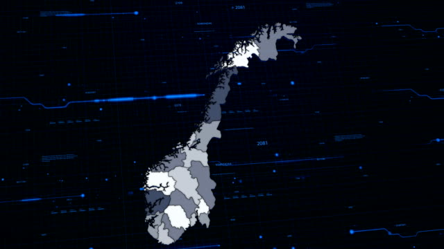Norway network map