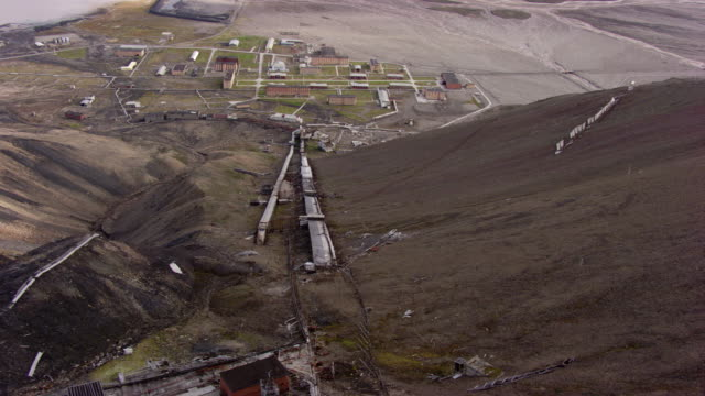 norway svalbard : mountain of the city of pyramiden - svalbard islands stock videos & royalty-free footage