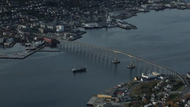 Norway. Tromse - Above view of the bridge