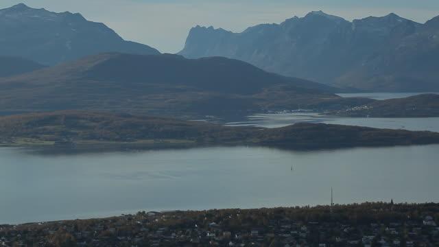 vídeos y material grabado en eventos de stock de norway. tromse - above view of the city - noruega