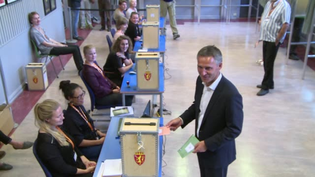 Norway's centreright opposition looks set to oust Prime Minister Jens Stoltenberg in Monday's general election paving the way for an antiimmigration...