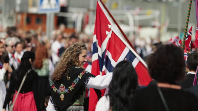 norwegian constitution day is the national day of norway, nasjonaldagen , syttende mai. it is between the most important public holiday of the... - may stock videos & royalty-free footage