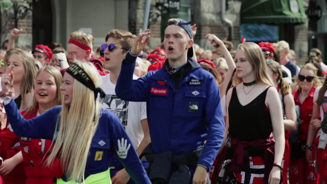 norwegian constitution day is the national day of norway, nasjonaldagen , syttende mai. it is between the most important public holiday of the... - traditionally norwegian stock videos & royalty-free footage