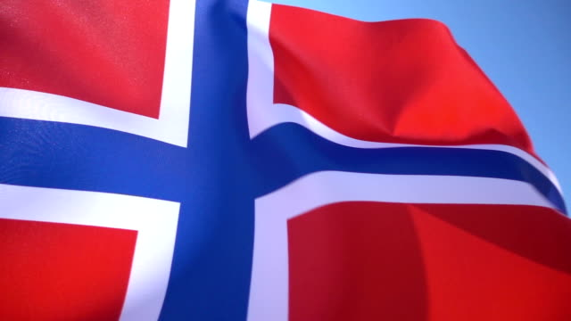 norwegian flag - traditionally norwegian stock videos & royalty-free footage