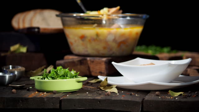 norwegian salmon soup - chowder stock videos and b-roll footage