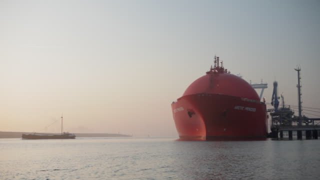 Norwegian tanker transporting Natural Liquid Gas ( LNG ), Port of Rotterdam