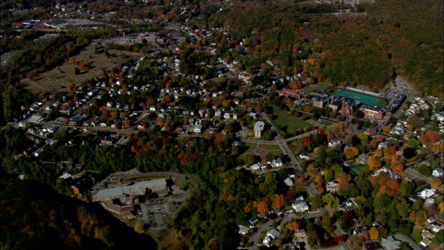 norwich  - aerial view - connecticut,  new london county,  united states - new london county connecticut stock videos & royalty-free footage