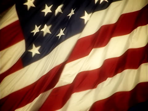 nostalgic american flag waving - waving stock videos & royalty-free footage