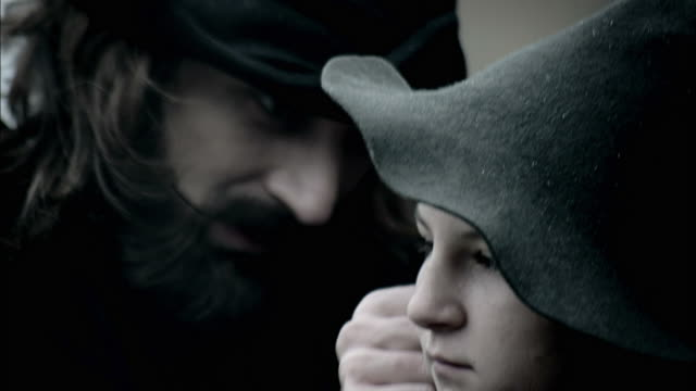 nostradamus examines a village boy for symptoms of an illness. - historical reenactment stock videos & royalty-free footage
