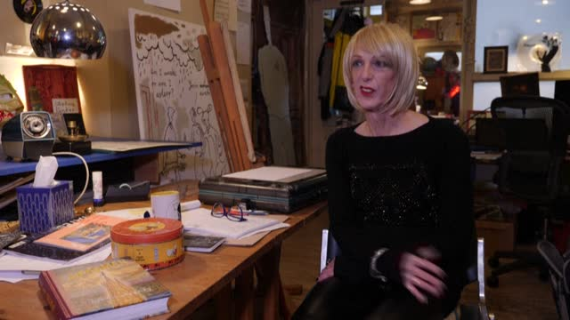 not all superheroes wear capes, some prefer dresses. cartoonist steven appleby drew on his own cross-dressing to create august crimp - animation moving image stock videos & royalty-free footage