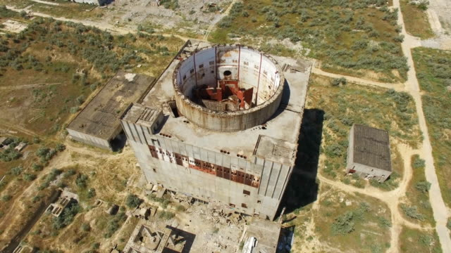 aerial: not commissioned nuclear power station - nuclear reactor stock videos & royalty-free footage