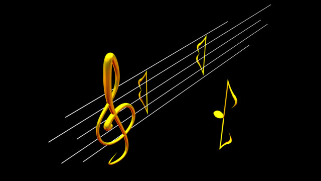 note dance - treble clef stock videos & royalty-free footage