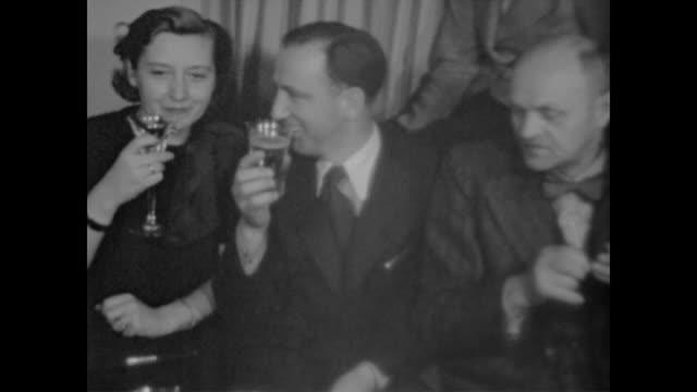 from eva braun's home movie collection - betrunken stock-videos und b-roll-filmmaterial