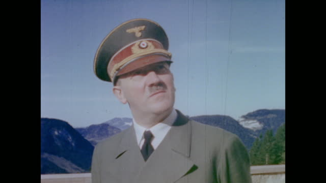 from eva braun's home movie collection - uniform stock-videos und b-roll-filmmaterial