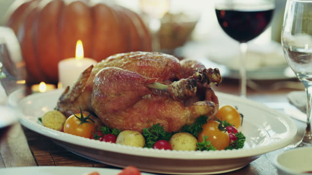 nothing beats a good roasted chicken for dinner - thanksgiving stock videos & royalty-free footage