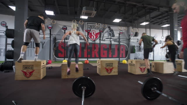 nothing can't stop us! - cross training stock videos & royalty-free footage