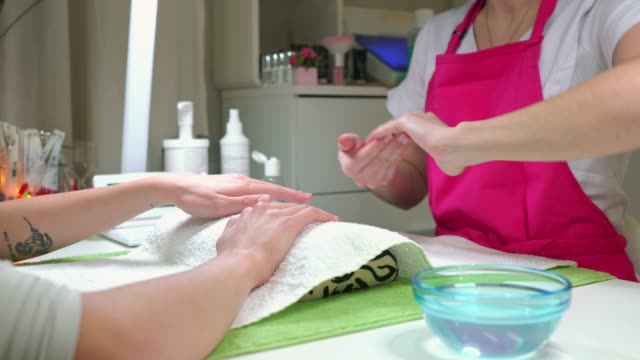 nothing improves your mood like a new manicure - manicure stock videos & royalty-free footage