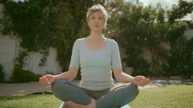 瞑想のような精神的な敏捷性を刺激するものは何もない - 自制心点の映像素材/bロール