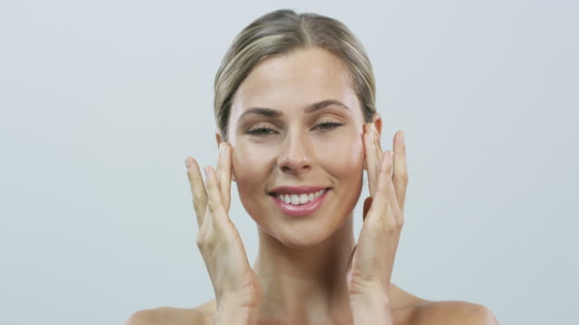 nothing keeps wrinkles away like a facial massage - anti aging stock videos & royalty-free footage