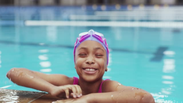 nothing promotes an active lifestyle like swimming classes - girls stock videos & royalty-free footage