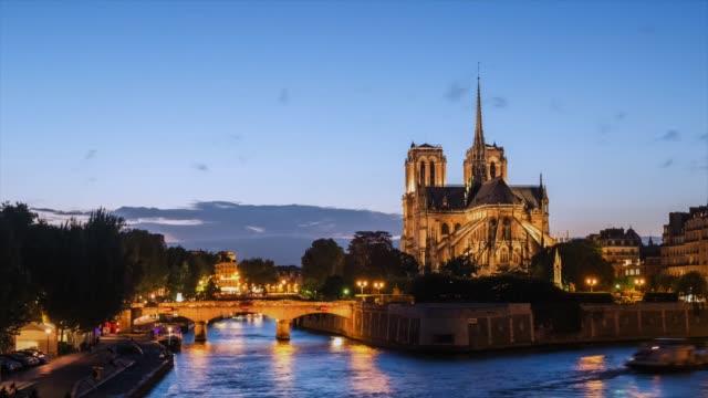 Notre Dame Cathedral at dusk