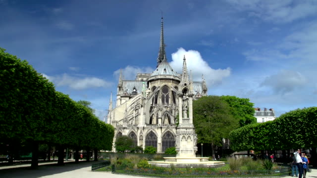 Notre Dame Cathedral in Paris, France (Rear)
