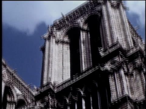 notre dame cathedral standing / paris, france - notre dame de paris stock videos & royalty-free footage