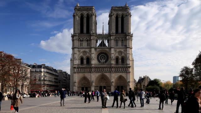 notre dame de paris cathedral, paris, france. - notre dame de paris stock videos and b-roll footage