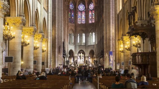notre dame de paris cathedral - notre dame de paris stock videos & royalty-free footage