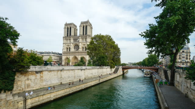Notre Dame de Paris,  France 4K time lapse