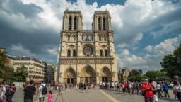 Notre dame hyper-lapse, Paris