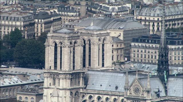 Notre Dame In Sun  - Aerial View - Île-de-France, Paris, France