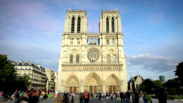 notre dame, paris - notre dame de paris stock videos and b-roll footage