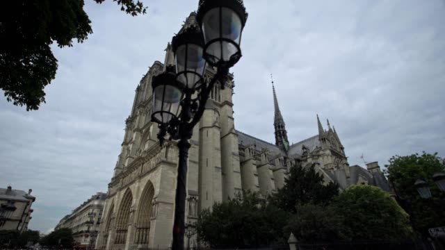 notre-dame cathedral, paris - france - bastille paris stock videos & royalty-free footage