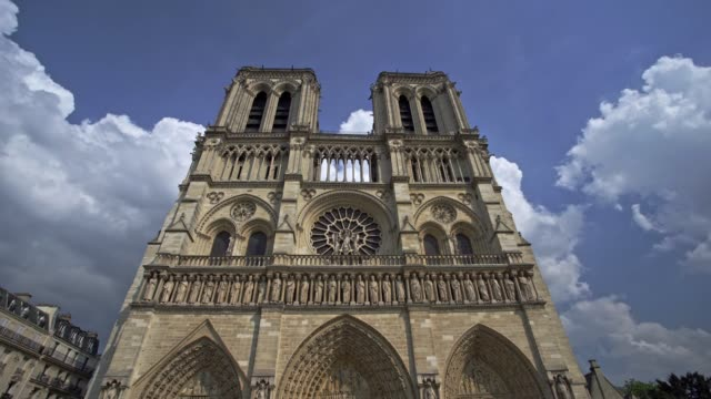 notre-dame cathedral, paris - france - dome stock videos & royalty-free footage