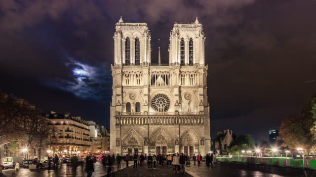 notre-dame cathedral - notre dame de paris stock videos and b-roll footage