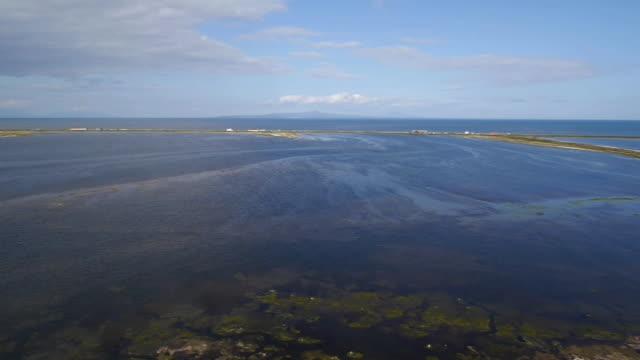 vidéos et rushes de aerial, notsuke peninsula, hokkaido, japan - océan pacifique