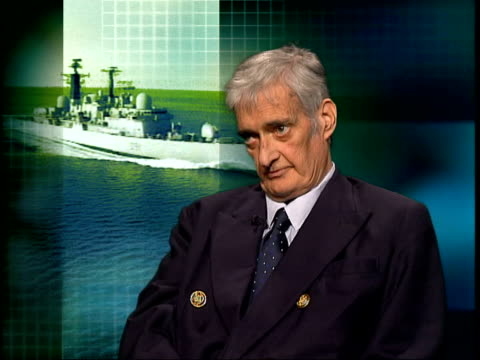 hms nottingham holed by rock itn london antony preston interviewed sot it would be such a coup for al qaida to even sink the ship levels of maritime... - newsletter stock videos & royalty-free footage