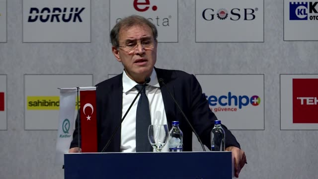 nouriel roubini professor of economics at new york university speaks during the 28th quality congress in istanbul turkey on november 26 2019 - new york university stock videos & royalty-free footage