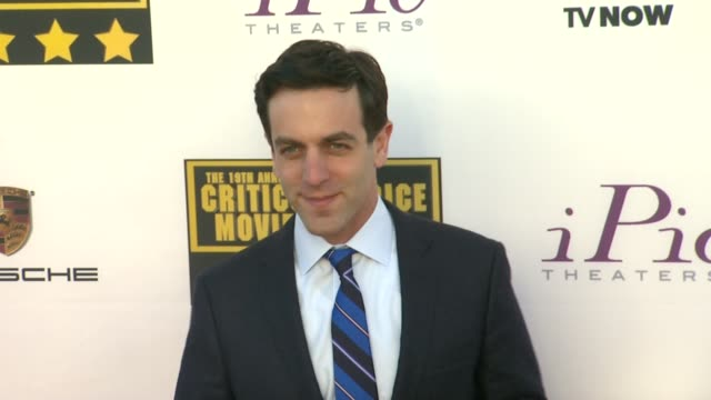 bj novak at 19th annual critics' choice movie awards arrivals at the barker hanger on in santa monica california - b.j. novak stock videos and b-roll footage