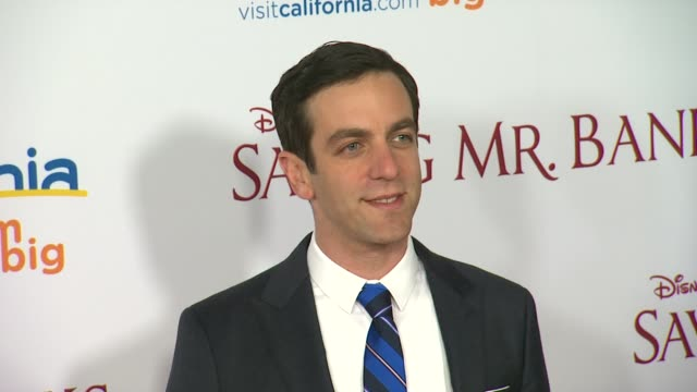 bj novak at saving mr banks los angeles premiere in burbank ca on 12/9/2013 - b.j. novak stock videos and b-roll footage