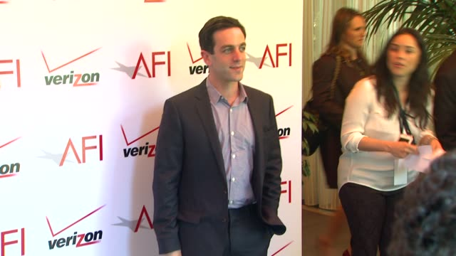 b j novak at the 14th annual afi awards at the four seasons hotel los angeles at beverly hills 01/10/14 - b.j. novak stock videos and b-roll footage