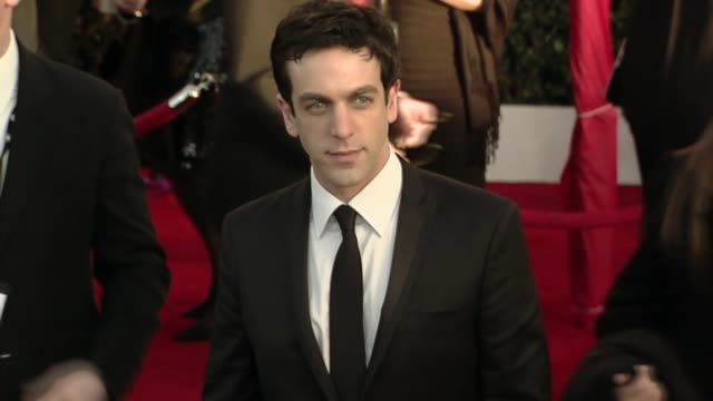 bj novak at the 16th annual screen actors guild awards arrivals at los angeles ca - b.j. novak stock videos and b-roll footage