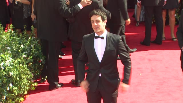 bj novak at the 62nd primetime emmy awards arrivals part 2 at los angeles ca - b.j. novak stock videos and b-roll footage