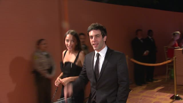 bj novak at the hbo's annual emmy awards post award reception at los angeles ca - b.j. novak stock videos and b-roll footage