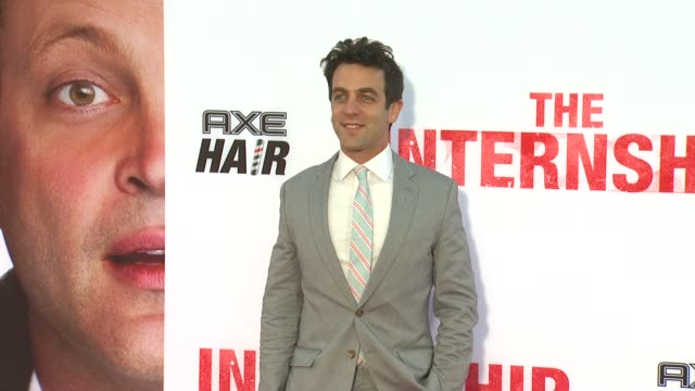 b j novak at the internship los angeles premiere on 5/29/2013 in westwood ca - b.j. novak stock videos and b-roll footage